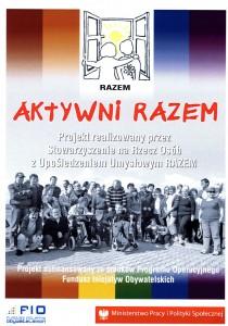 Plakat Aktywni RAZEM!