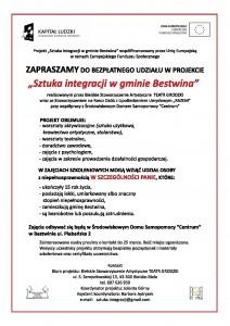 """Plakat """"Sztuka integracji w Gminie Bestwina"""""""