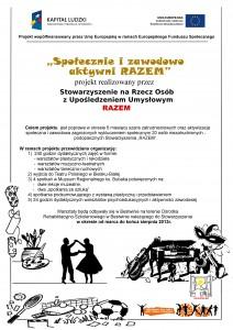"""plakat informacyjny """"Społecznie i zawodowo aktywi RAZEM"""""""